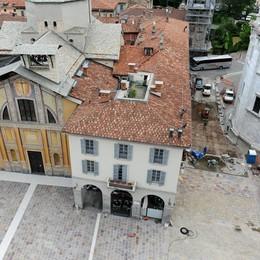 Lavori completati in piazza Grimoldi  Prende forma la nuova città pedonale