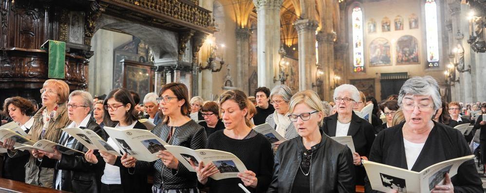 In Duomo mille cantori  da tutta la diocesi