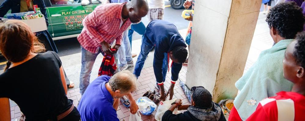 I profughi via da Como Sono stati portati a Taranto