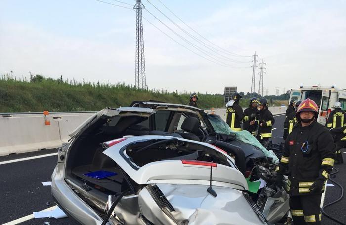 Incidente Pedemontana tra Bregnano e Lazzate corsia per Varese 1 luglio 2016