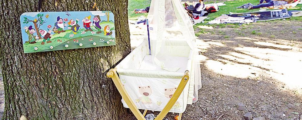 Profughi, l'ultimo dramma  Notte nel parco   con un bimbo di un mese