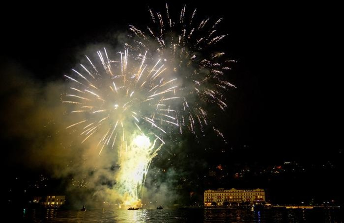 Cernobbio fuochi d'artificio a Villa D'Este