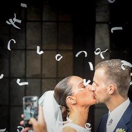 Como matrimonio di Massimiliano Sallusti e Cristina Frangi a Sant'Abbondio