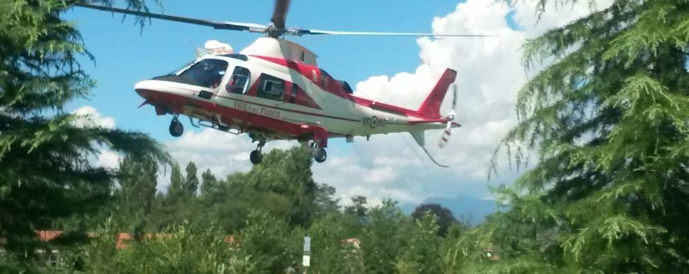 Pensionato di Lurate scompare da casa  Ritrovato dopo un giorno con l'elicottero