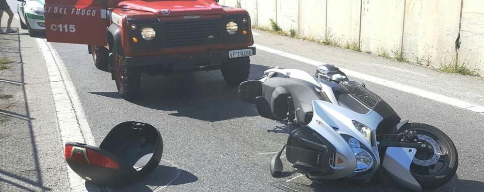 Incidente a Tavernola  Ferito motociclista