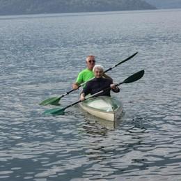 Prima volta sulla canoa  A quasi  86 anni
