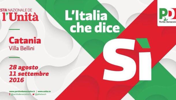 Al via a Catania Festa nazionale Unità