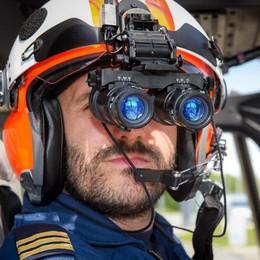 Como, elisoccorso al top  I visori militari per il volo notturno