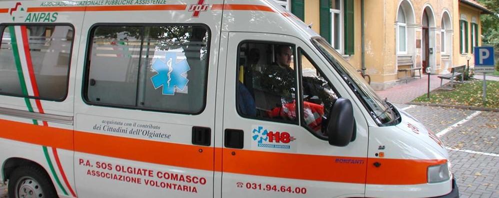 Grave scontro a Olgiate: tre feriti