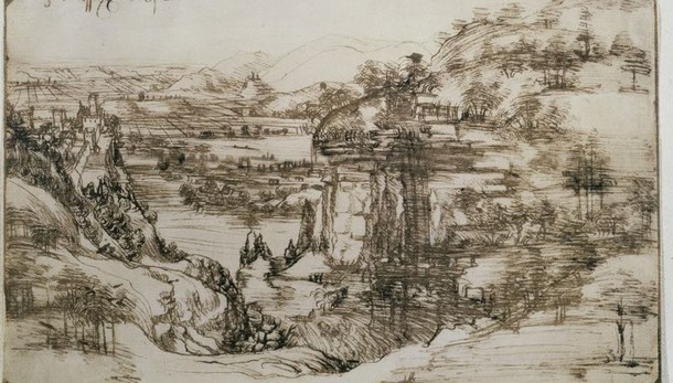 Paesaggio di Leonardo torna a Vinci