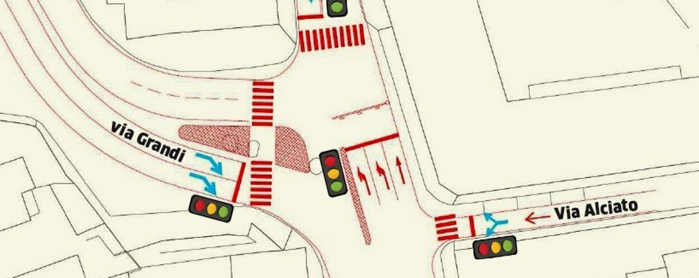 «Il semaforo a S. Rocco?   Riduce il traffico»