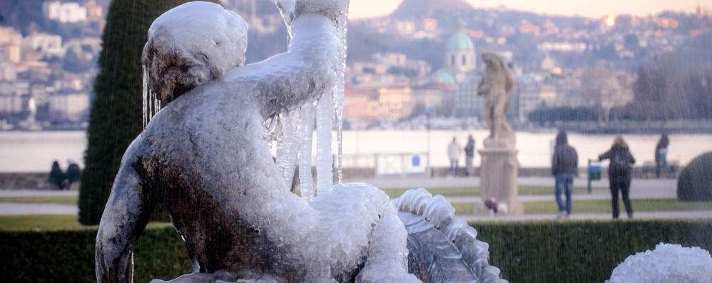 Ancora gelo sul Comasco  Neve possibile venerdì