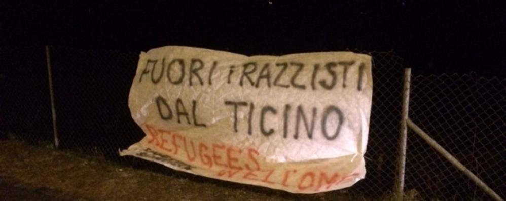 In Ticino striscioni  contro i razzisti