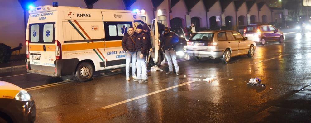 Poliziotto investito in tangenziale  Soccorso dal 118, è grave