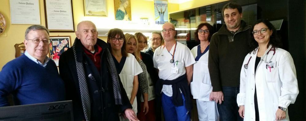 Cantù, donazione all'ospedale  in memoria di Cristian Borgno