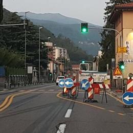 Tornano i lavori in via Pasquale Paoli  Si scende da quattro a due corsie