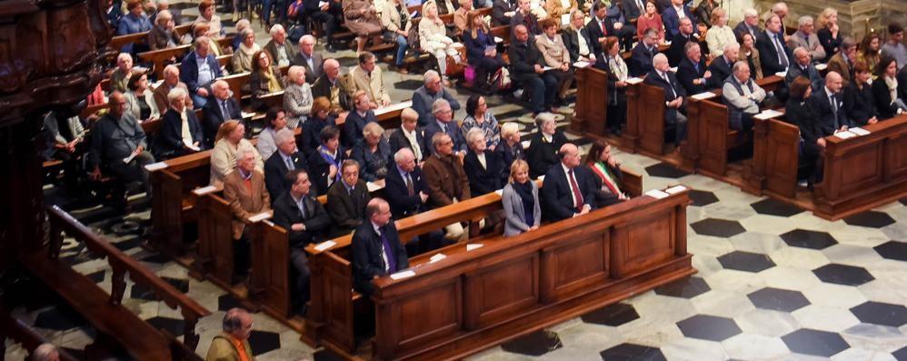 Il vescovo in Duomo  «Spallino, una vita per il bene comune»