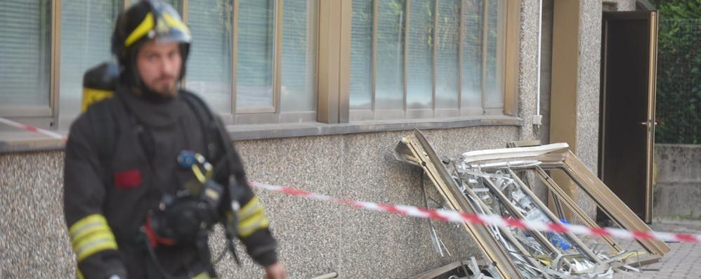 Villa Guardia, esplosione in ditta  Causata da una fuga di gas