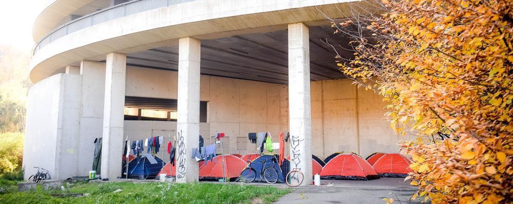 Appello per i migranti sotto le tende  «C'è posto nel centro di via Regina»