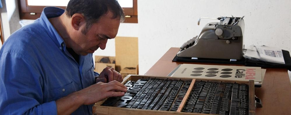 Lasnigo, la tipografia è arte  «E faccio tutto a mano»