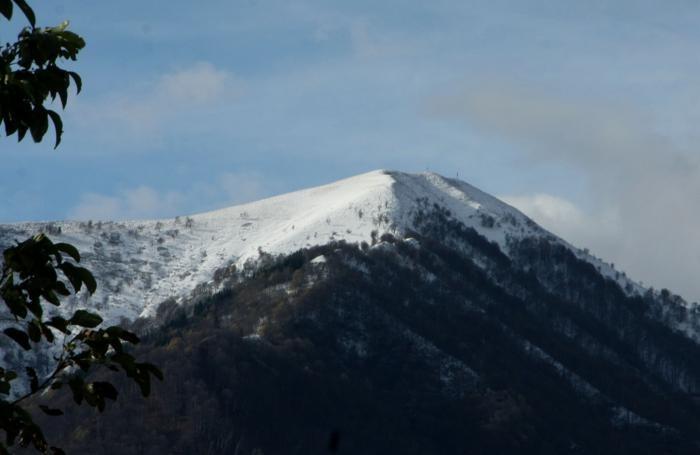 Valle Intelvi prima nevicata Monte Calbiga 6 novembre 2017