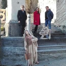 """Tremezzina, presepe a Villa Balbianello  Nel porticciolo usato per """"Guerre Stellari"""""""