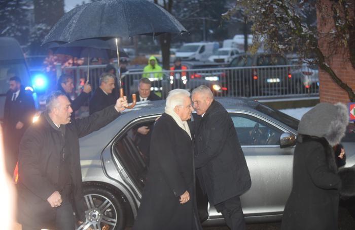 L'arrivo del Presidente