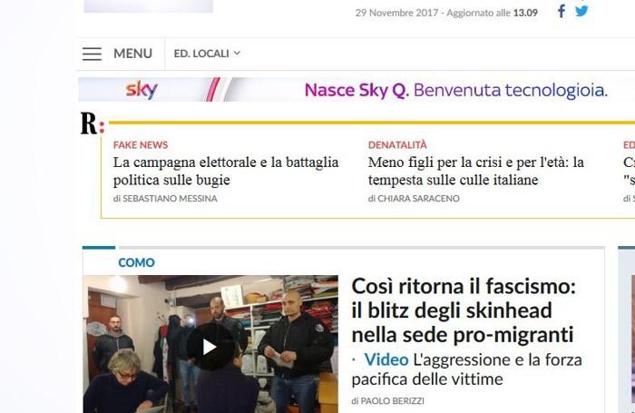 La nptizia su repubblica.it