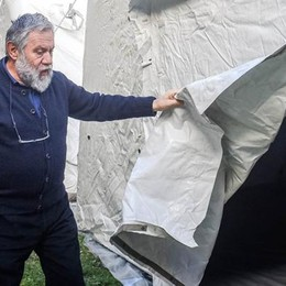 Emergenza freddo  I posti letto  nelle tende Caritas