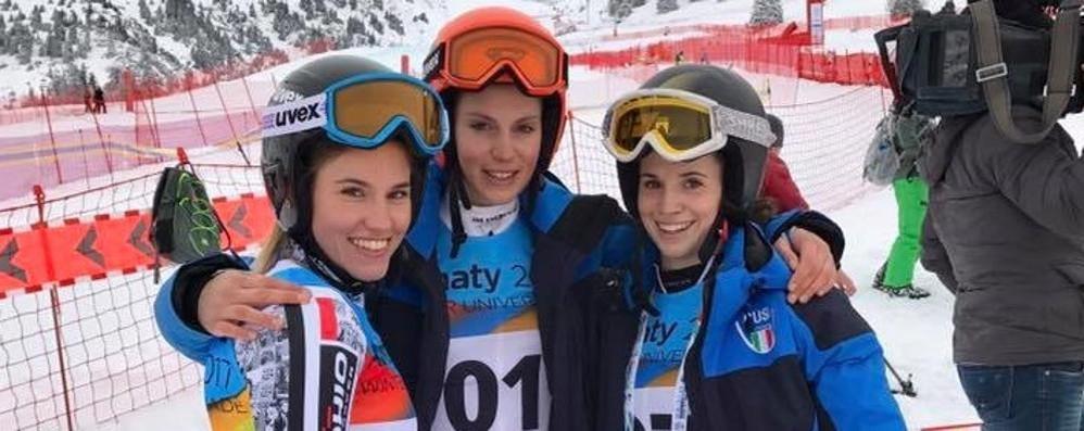 Universiade stregata Olivieri fuori in slalom