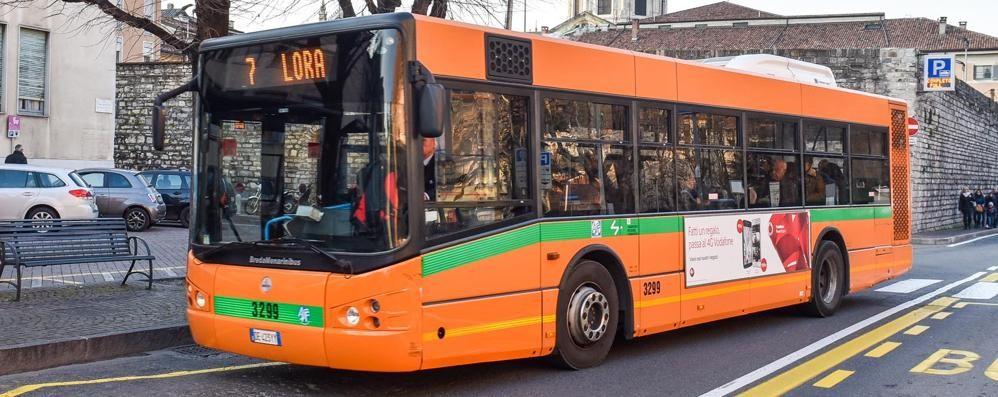 Piazza Roma  Sassate contro il bus