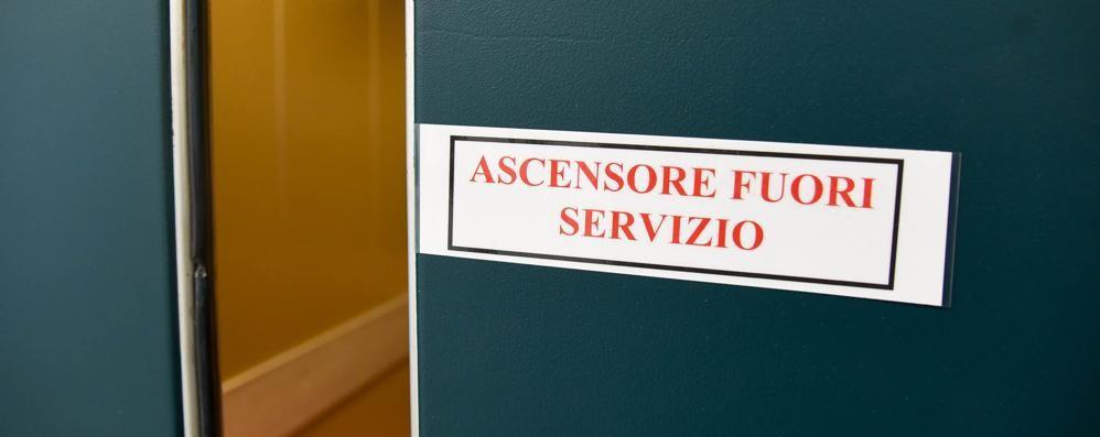 Vecchio Sant'Anna  Ascensori ancora fermi