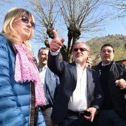 #rivogliamoilnostrolago  Maroni a Como  per l'avvio dei lavori