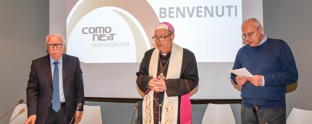 Il vescovo a ComoNext  La forza del sogno