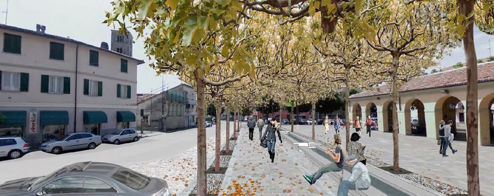 Erba, su piazza del Mercato   litigano gli architetti