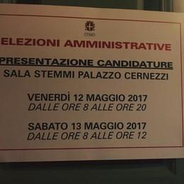 Elezioni a Como, scaduti i termini  Sette candidati sindaco e 13 liste
