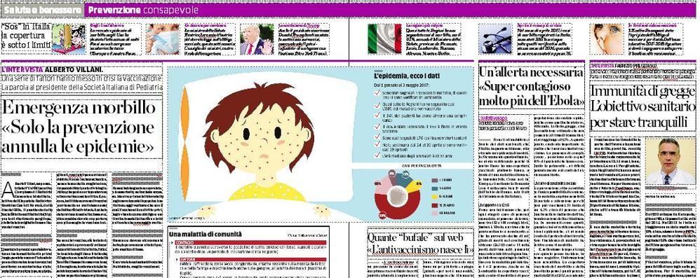 «Morbillo, un'epidemia»  Effetto del calo vaccinale