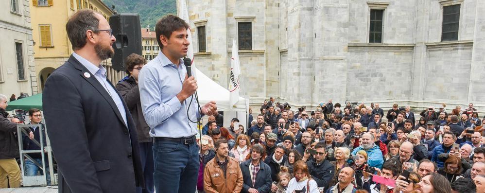 Di Battista a Como per Aleotti  «Con noi il cittadino si fa Stato»