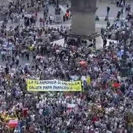 Da Valsolda a piazza San Pietro  Il Papa applaude la Filarmonica