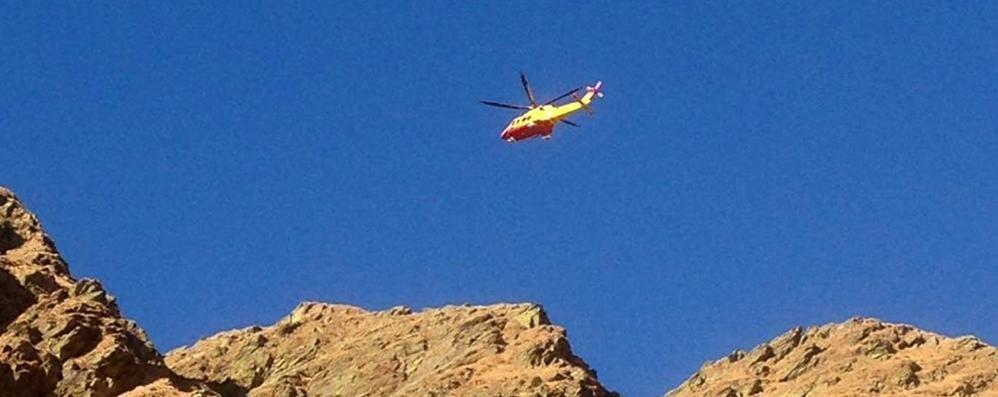 Escursionista cade a Garzeno Recuperato dal Soccorso alpino