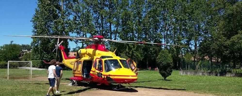Incidente a Dizzasco Motociclista in ospedale