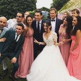 Darmian  si è sposato con Francesca Nozze vip e  fuochi a Villa Pizzo
