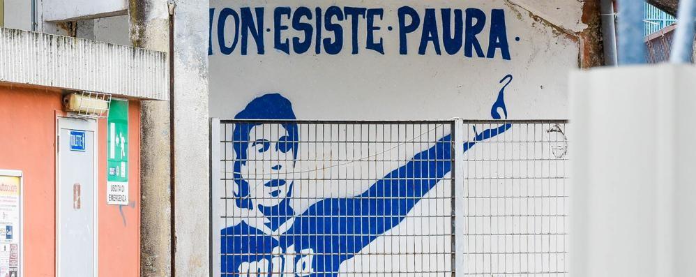 """Un murales per il """"Borgo""""  scomparso quattro anni fa"""
