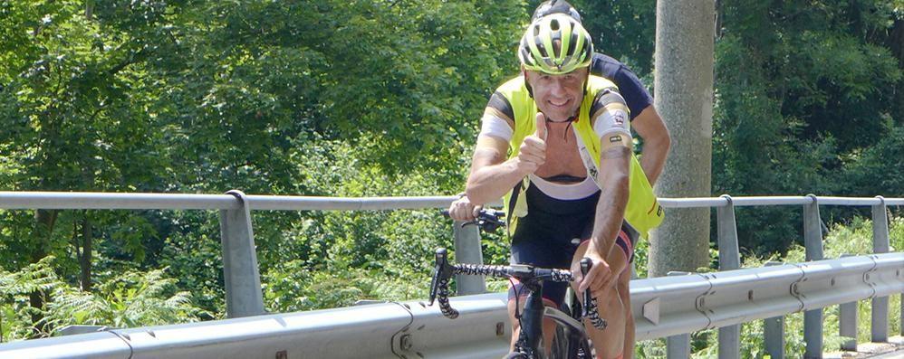 In bici 10 volte alla Colma di Sormano  «È come avere scalato l'Everest»