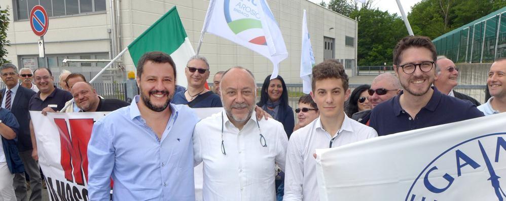 Moschea, Salvini torna a Cantù  «Le regole vanno rispettate»