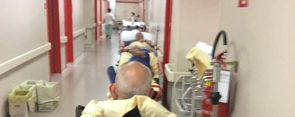 Sant'Anna, caos pronto soccorso  Pazienti costretti in corridoio da giorni