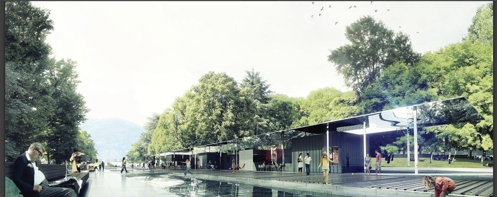 Le vasche e l'area giochi  Ecco i nuovi giardini a lago
