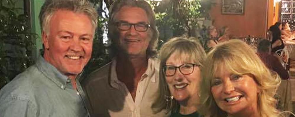 Goldie Hawn e Kurt Russell  A Bellagio c'è Hollywood