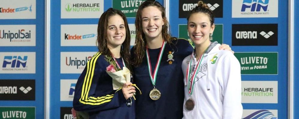 Campionati italiani a Roma  Paruscio d'oro nei 200 dorso