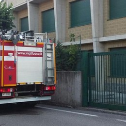 Incendio all'oratorio Pompieri a Fino